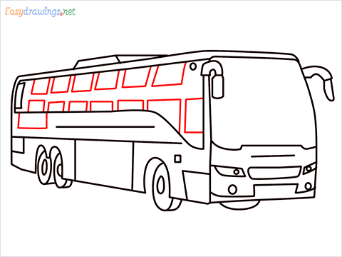 How to draw a Police bus step (10)