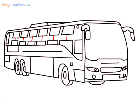 How to draw a Police bus step (11)