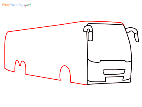 How to draw a Police bus step (5)