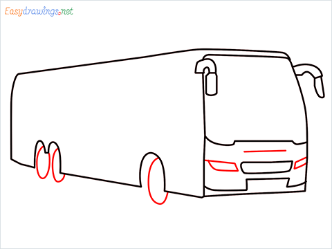 How to draw a Police bus step (6)