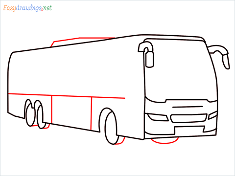 How to draw a Police bus step (7)
