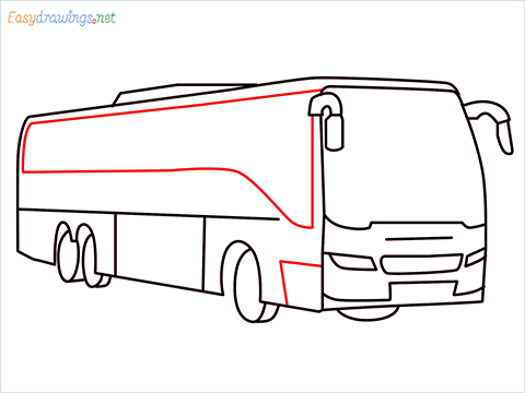 How to draw a Police bus step (8)