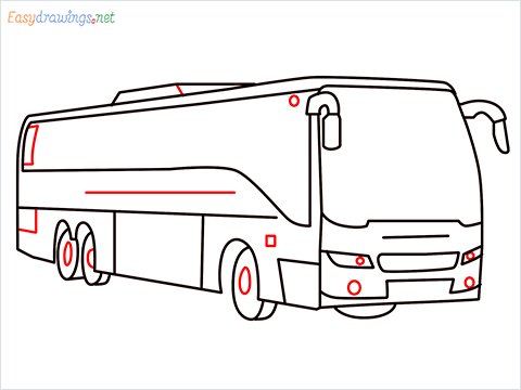 How to draw a Police bus step (9)