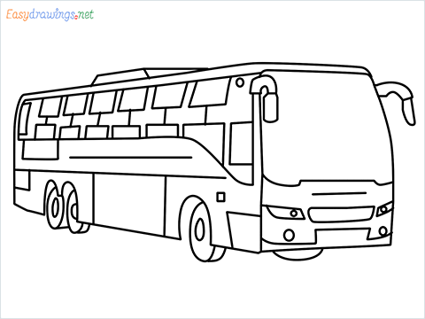 How to draw a Police bus step by step for beginners