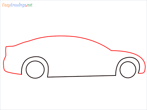 How to draw a Police car step (3)