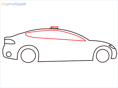 How to draw a Police car step (5)