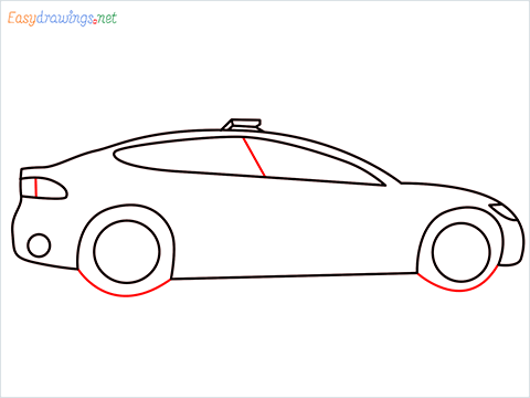 How to draw a Police car step (6)