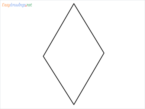 How to draw a Rhombus shape step by step for beginners