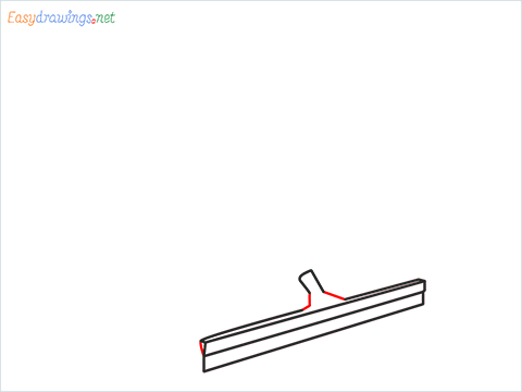 How to draw a Squeegee mop step (4)