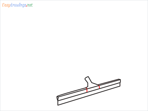 How to draw a Squeegee mop step (5)