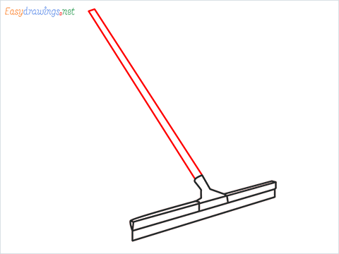 How to draw a Squeegee mop step (6)