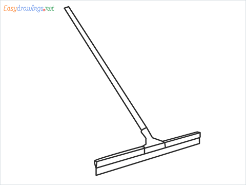 How to draw a Squeegee mop step by step for beginners