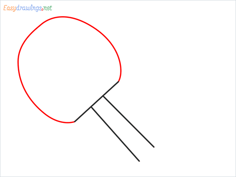 How to draw a Table tennis racket and ball step (3)