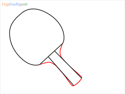 How to draw a Table tennis racket and ball step (4)