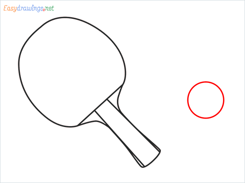 How to draw a Table tennis racket and ball step (5)