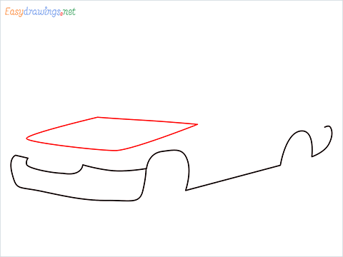 How to draw a Taxi car step (3)