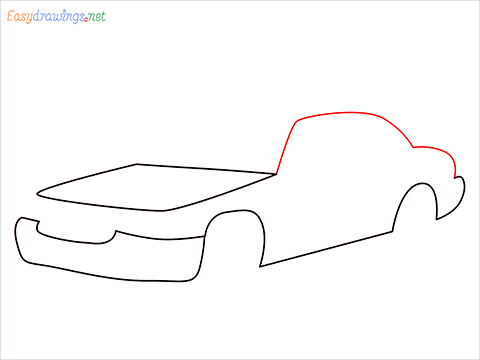 How to draw a Taxi car step (4)