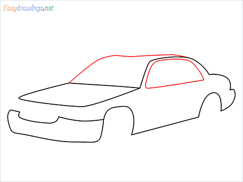 How to draw a Taxi car step (5)