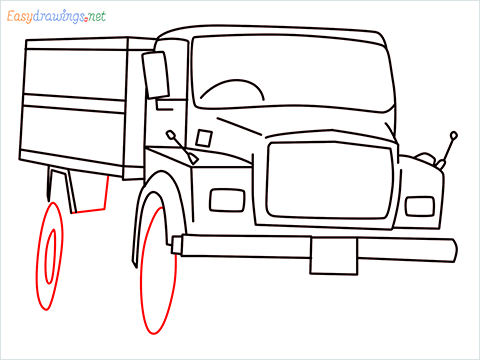 How to draw a Tipper lorry step (10)
