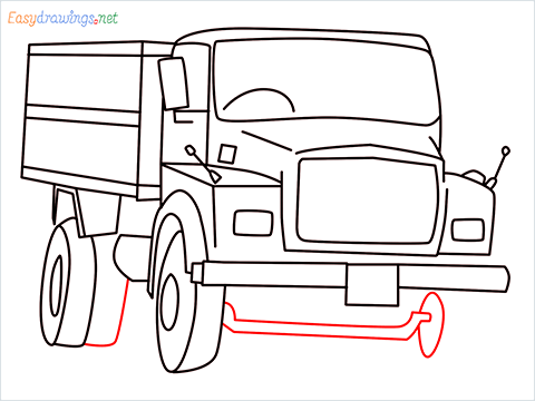 How to draw a Tipper lorry step (12)
