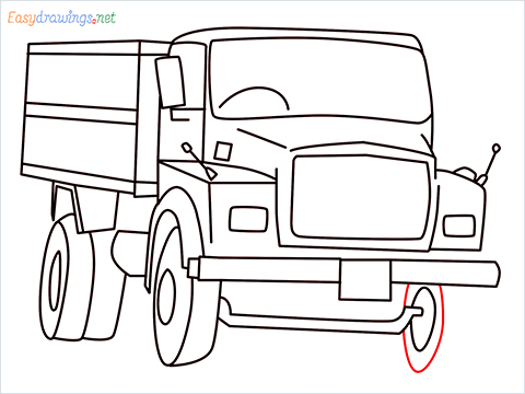 How to draw a Tipper lorry step (13)