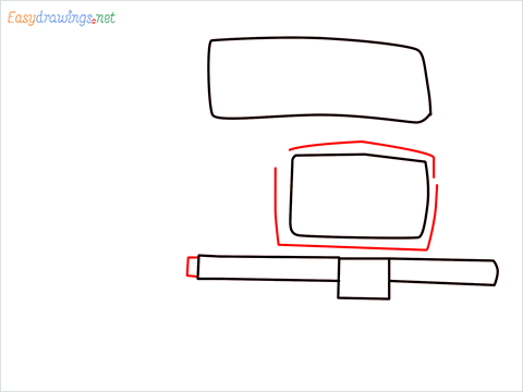 How to draw a Tipper lorry step (3)