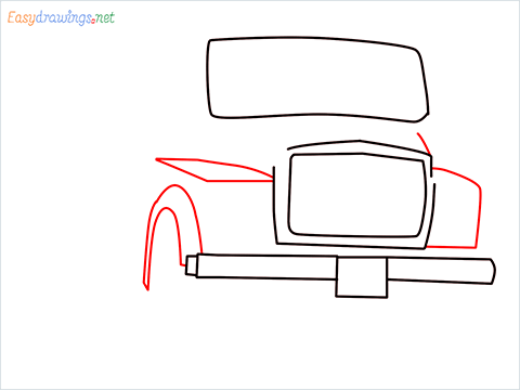 How to draw a Tipper lorry step (4)