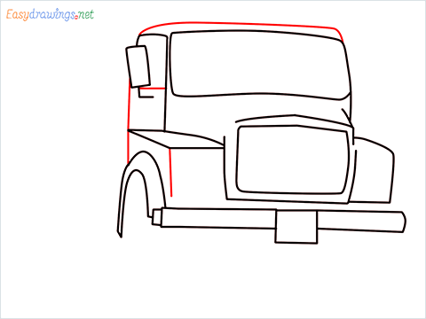 How to draw a Tipper lorry step (6)