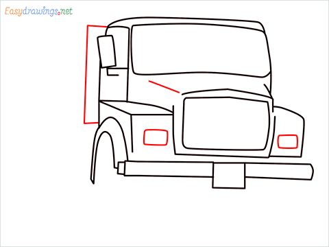 How to draw a Tipper lorry step (7)