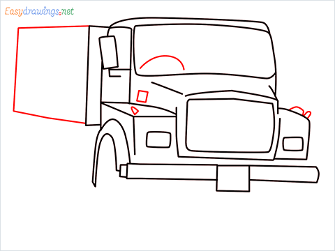 How to draw a Tipper lorry step (8)