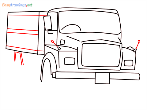 How to draw a Tipper lorry step (9)