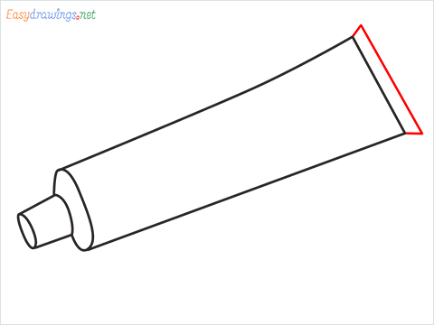 How to draw a Toothpaste step (5)
