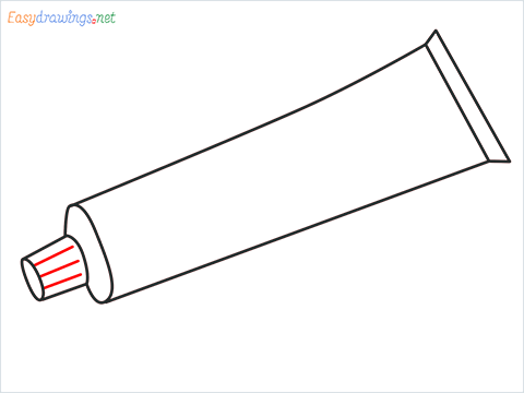 How to draw a Toothpaste step (6)
