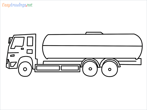 How to draw a petrol Tanker step by step for beginners