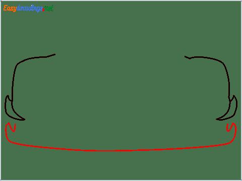 How to draw a sports car Koenigsegg Jesko step (2)