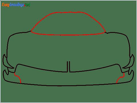 How to draw a sports car Koenigsegg Jesko step (4)
