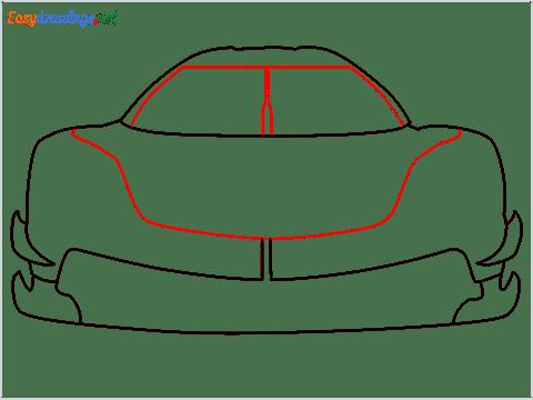 How to draw a sports car Koenigsegg Jesko step (5)