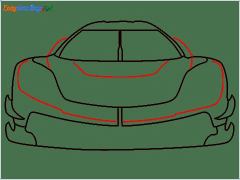 How to draw a sports car Koenigsegg Jesko step (6)