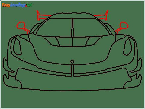 How to draw a sports car Koenigsegg Jesko step (8)