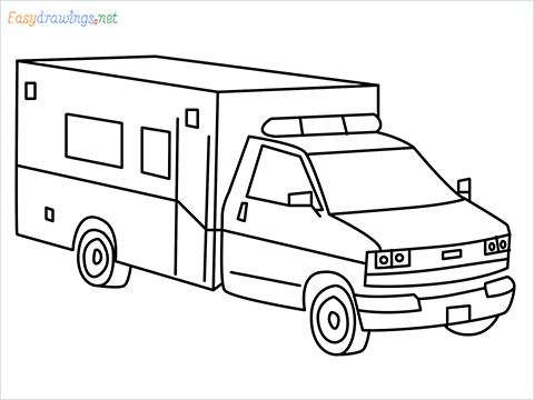 How to draw an Ambulance from GTA 5 step by step for beginners