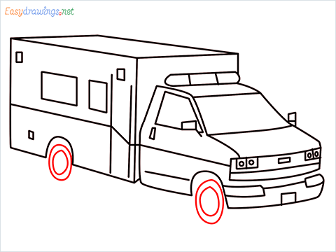 How to draw an Ambulance step (10)