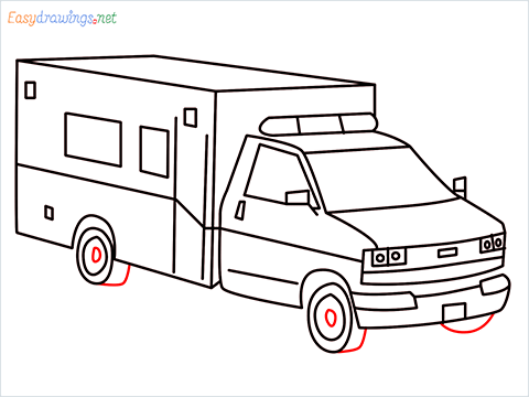 How to draw an Ambulance step (11)