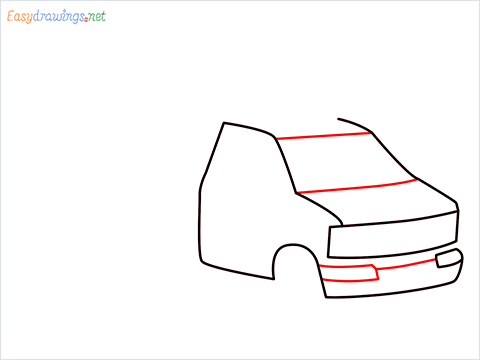 How to draw an Ambulance step (4)