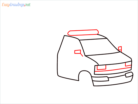 How to draw an Ambulance step (5)