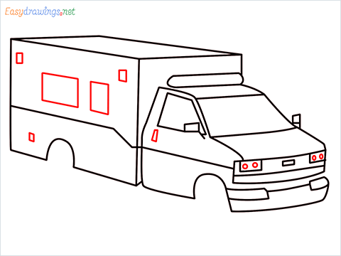 How to draw an Ambulance step (8)