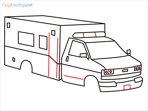 How to draw an Ambulance step (9)