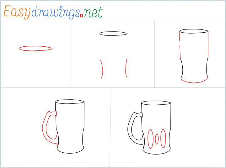 Overview for Beer mug drawing