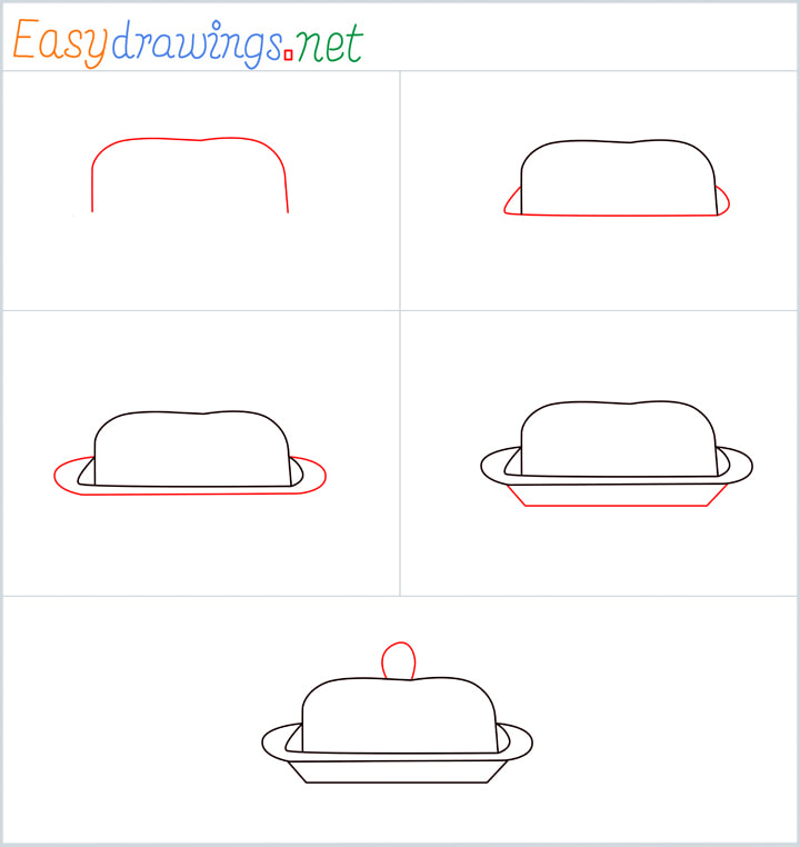 Overview for Butter dish drawing