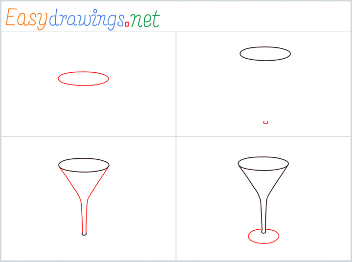 Overview for Cocktail glass drawing