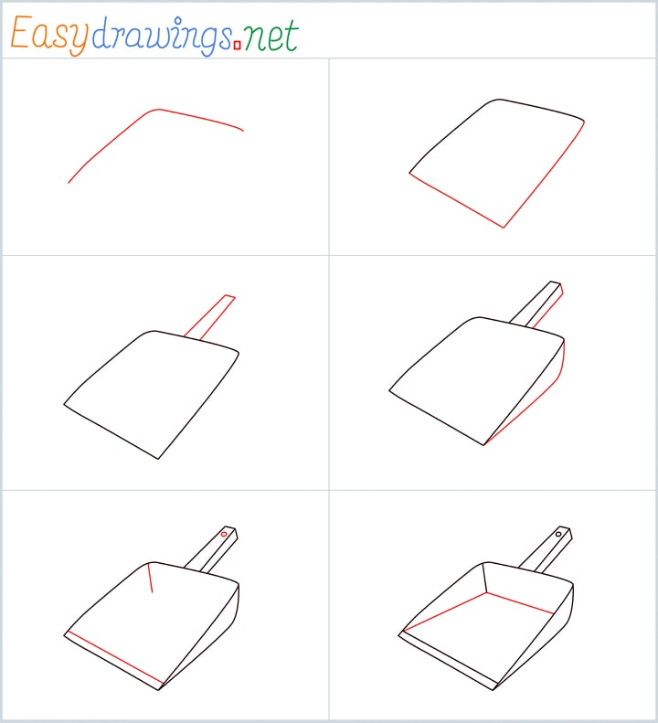 Overview for Dustpan drawing